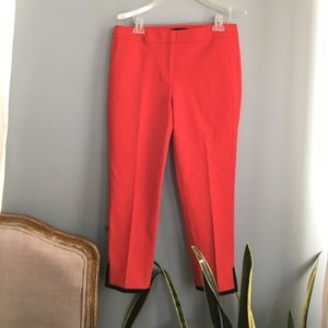 NWT Talbots Tipped Bi-Stretch Slim Ankle Red Pants
